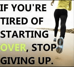 Tired of Starting Over