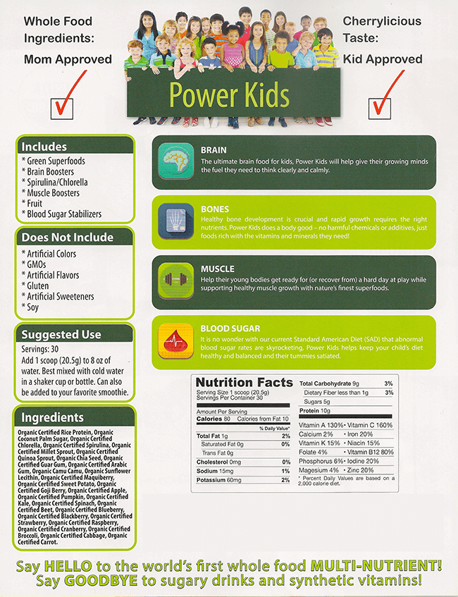 power kids plant powered nutritional drink for kids