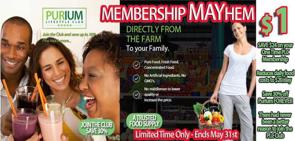 Purium Membership Mayhem