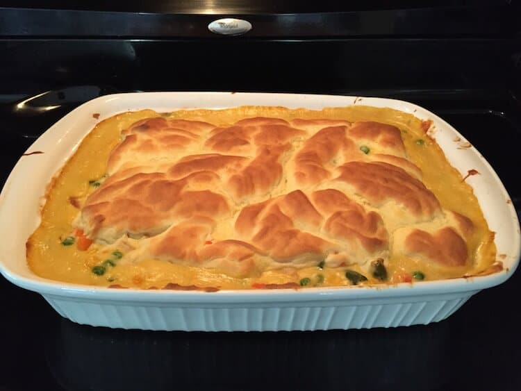 Chicken Pot Pie with Organic Vegetables and Hormone Free Chicken