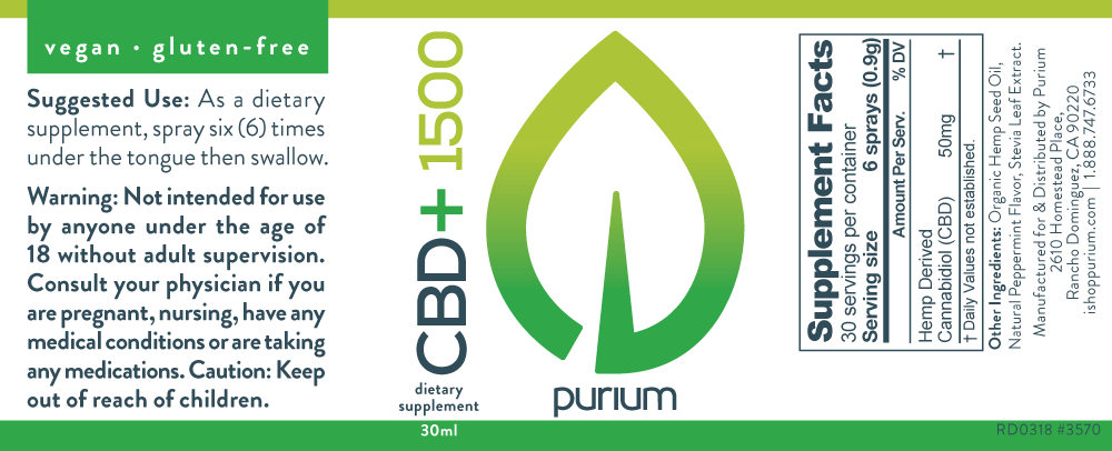 Purium CBD Oil Label